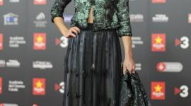 Núria Prims receives the Gaudí Award for Best Actress dressed by Celia Vela